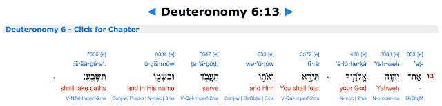 Deuteronomy 6:13