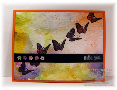 Crafty Colonel Donna Nuce using Club Scrap Dahlia Kit, A2 Card