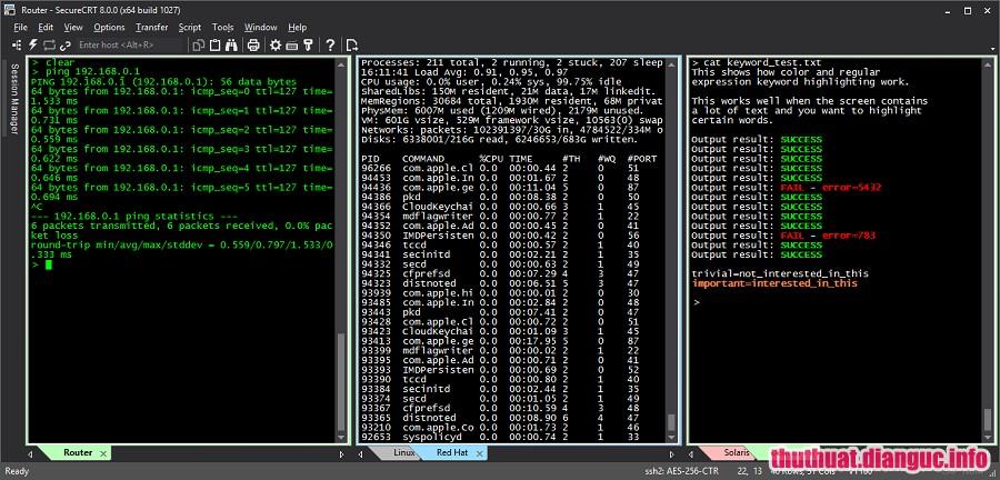 Download SecureCRT and SecureFX 8.5.1 Full Cr@ck – Phần mềm giả lập máy chủ chuyên nghiệp