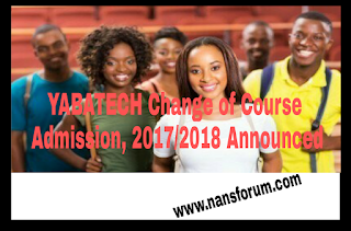 YABATECH Change of Course Admission, 2017/2018 Announced
