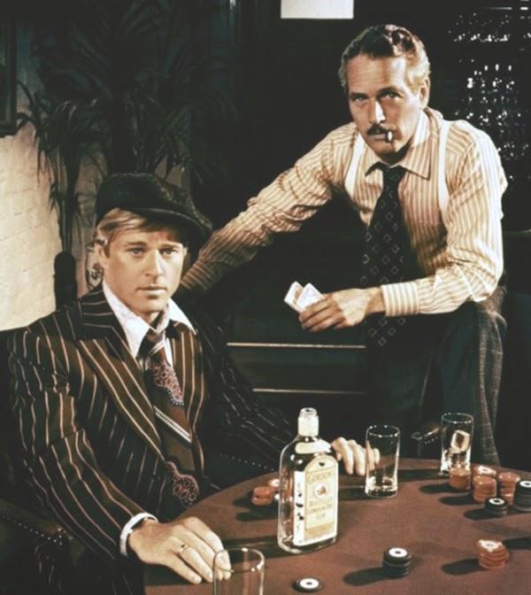 Fotograma de la película El golpe con Robert Redford y Paul Newman