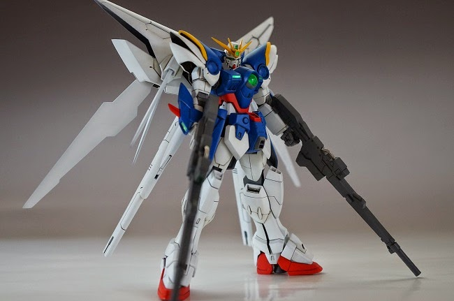 "Custom Build: HG 1/144 ""Build"" Wing Zero Custom with Dark Matter Booster"