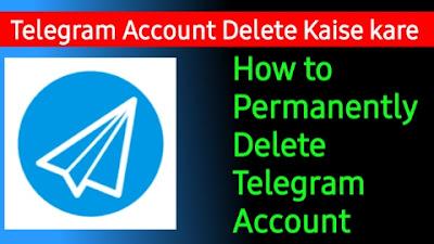 Telegram Accounts delete
