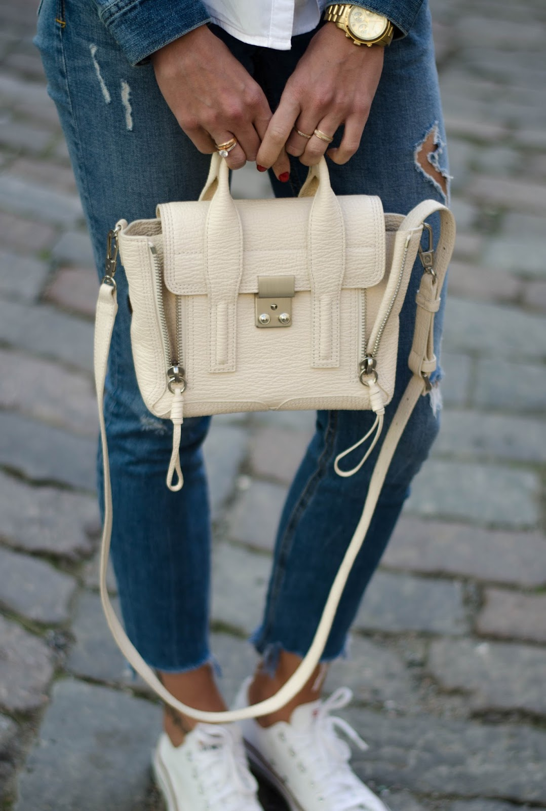 3.1 phillip lim mini pashli bag milk