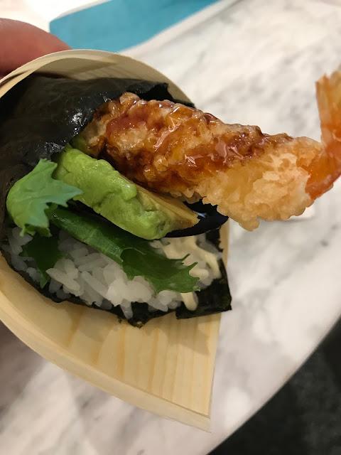 Sushi Jiro, Chadstone, tempura prawn temaki