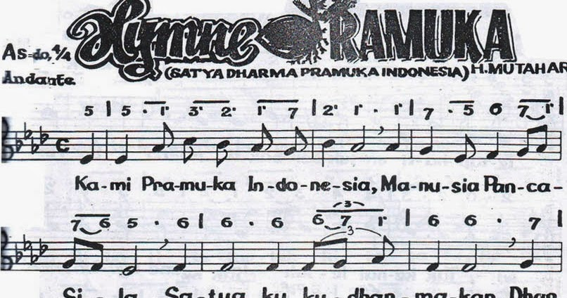 Image Result For Partitur Hymne Pramuka