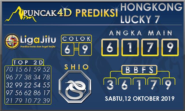 PREDIKSI TOGEL HONGKONG LUCKY7 PUNCAK4D 12 OKTOBER 2019