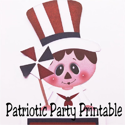 Print this Uncle Sam treat for the perfect party decoration, party invitation, or party treat for your next Patriotic party.
