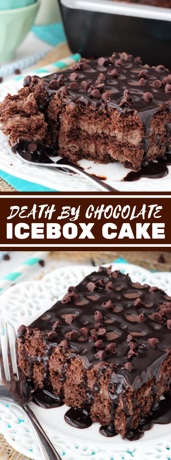 DEATH BY CHOCOLATE ICEBOX CAKE #desserts #sweets
