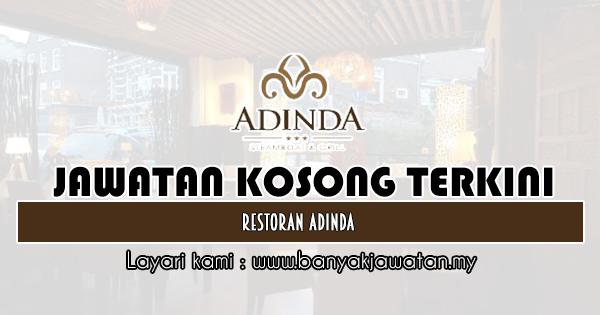 Kerja Kosong 2019 Restoran Adinda