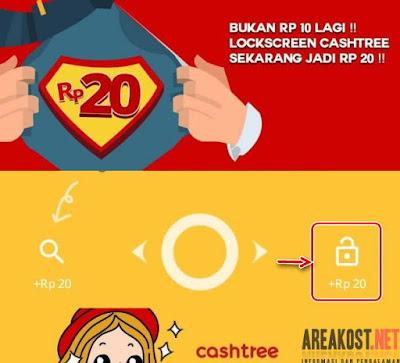Buka Lockscreen Dapat Rp.20