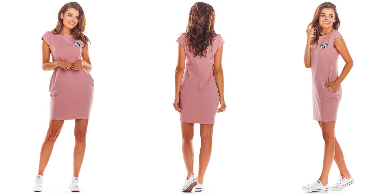 Sukienka bombka z kieszeniami