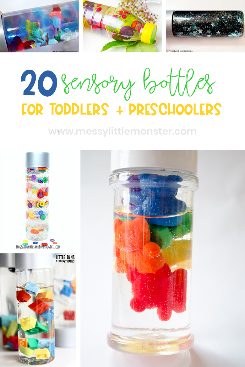 making sensory bottles for babies, toddlers and preschoolers