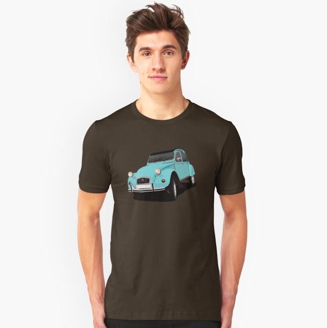 Autoklassikko Citröen 2CV t-paita