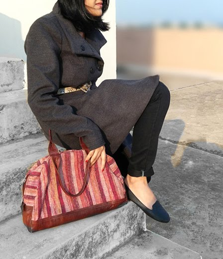 black mango moccasins ,leather bag