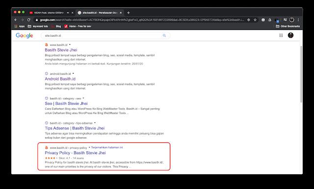 Cara Menghapus Postingan Dari Index Google Penelusuran