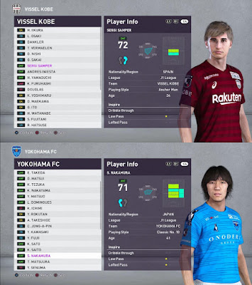 PES 2020 J League Facepack for ICMP Patch