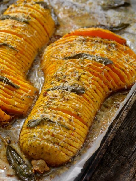 Hasselback Butternut Squash With Browned Butter