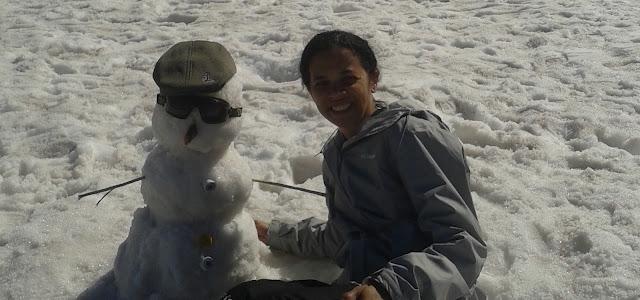 neve esqui boneco de neve