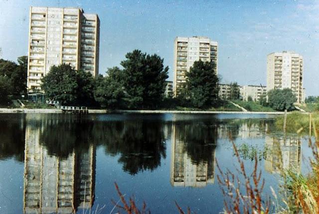1979 год. Рига. Югла. Жилые дома на берегу озера