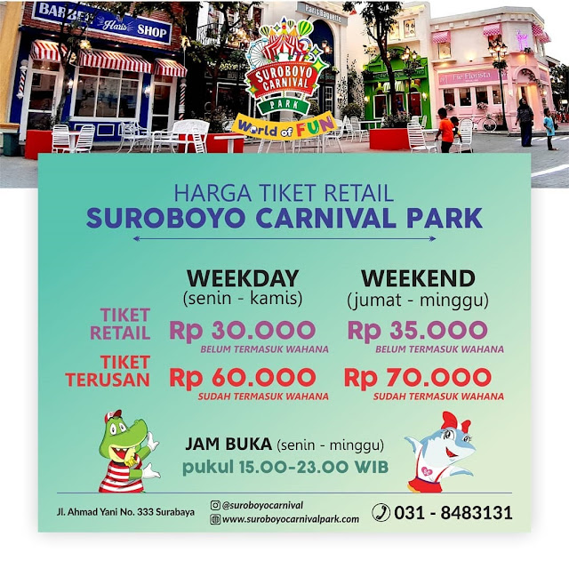 Harga Tiket Masuk Suroboyo Carnival Park