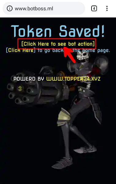 Bot Activation Success Screenshot