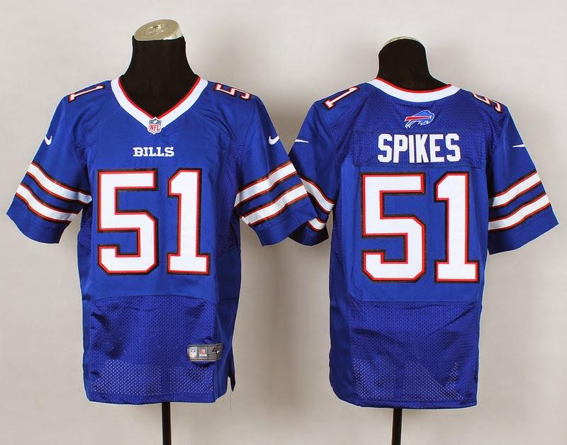 03ff52553 2014 New Nike Buffalo Bills 51 Spikes Elite Blue Jerseys