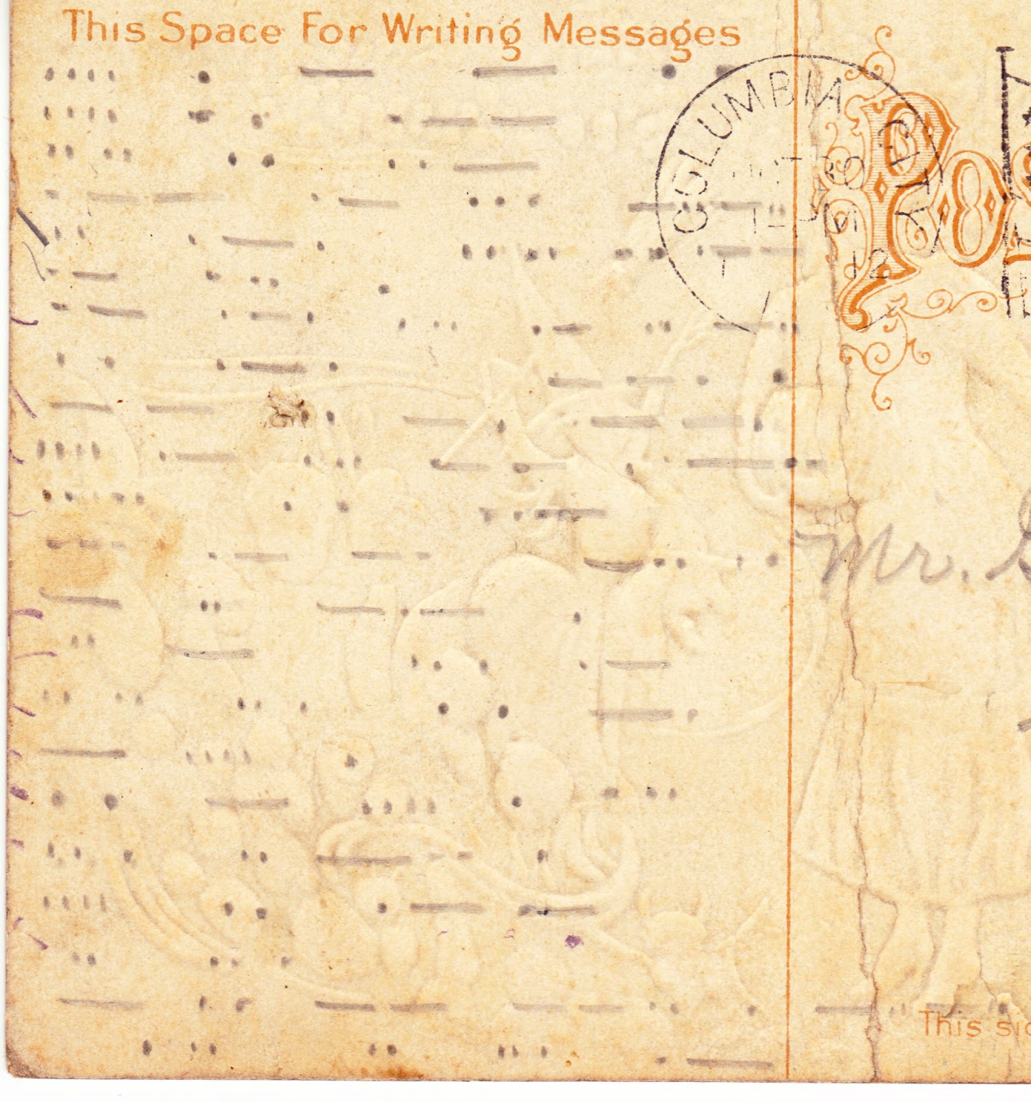 Papergreat Update Morse Code Mystery On Vintage Postcard