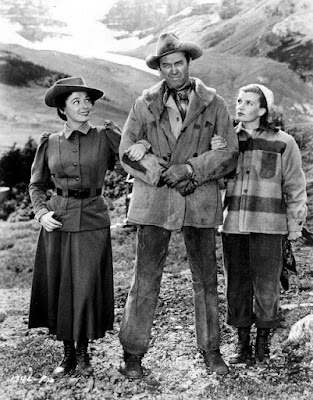 The Far Country - James Stewart, Ruth Roman, and Corinne Calvet
