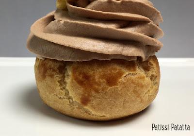 recette de choux au chocolat au lait, pâte à choux Ferrandi, ganache montée au chocolat au lait, choux au chocolat, pâtisserie, dessert, choux maison, comment faire des choux, patissi-patatta
