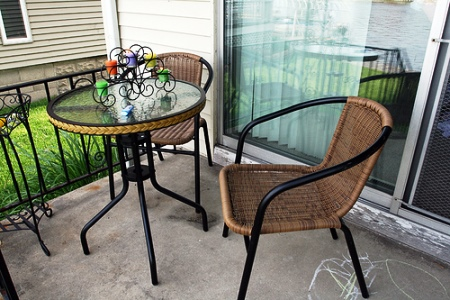 outdoor patio iron and rattan furniture sale target