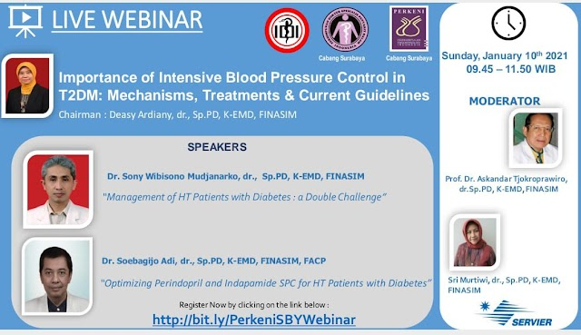 """Webinar """"Importance of Intensive Blood Pressure Control in T2DM: Mechanisms, Treatment and Current Guidelines"""""""