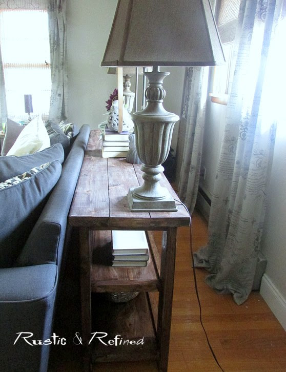 Diy Rustic Sofa Table Project Rustic Refined