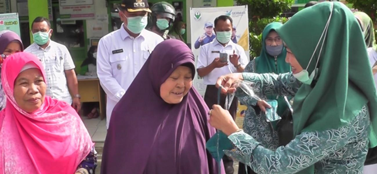 Di Kecamatan Danau Kerinci, Gerakan Bersama Cegah Covid 19 - Sosialisasi Sentral Pasar