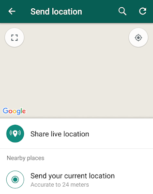 share location on whatsapp