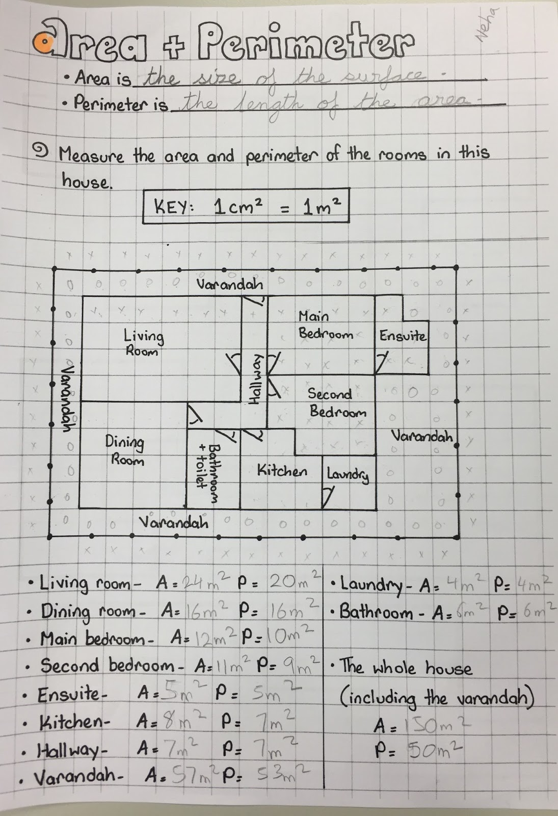 House Perimeter Worksheet
