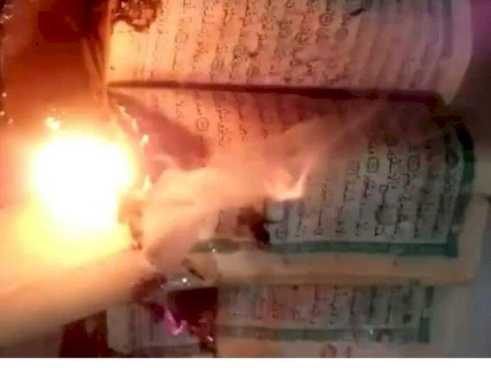 Viral Cewek Bakar Al-Quran Hingga Sebut Mampus ke Warga Gaza, Netizen Geram