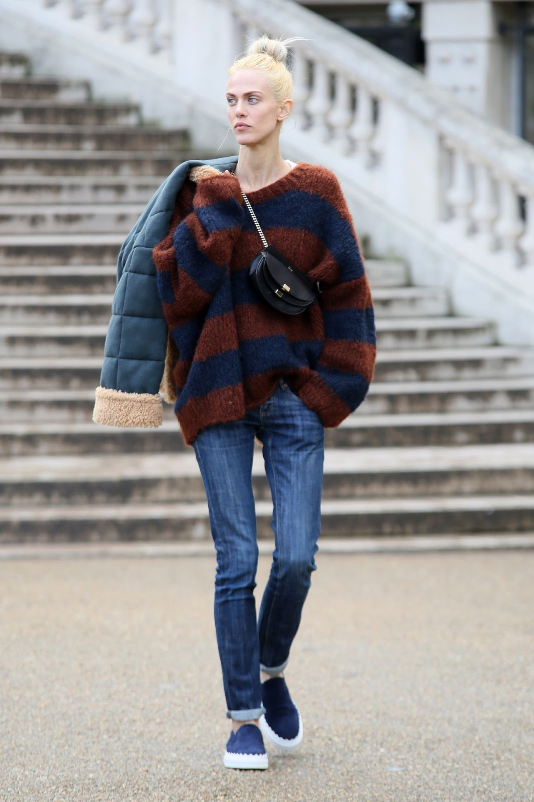 Aymeline Valade's Slouchy Sweater & Boyfriend Jeans