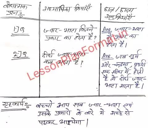 Social Science Lesson Plan in Hindi for B.ed