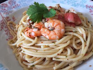 Resepi Spaghetti Seafood Aglio Olio Noxxa