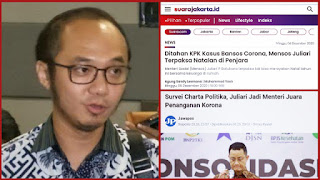 Menteri Terbaik Versi Charta Politika Itu Natalan di Bui, Warganet: Botak Ngibul!