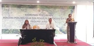 Asisten II Gubernur Jambi Secara Resmi Membuka Penyusunan Rencana Perlindungan Dan Pengelolaan Ekosistem Gambut Provinsì Jambi.
