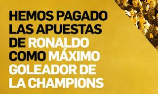 betfair paga por adelantado ronaldo pichichi champions
