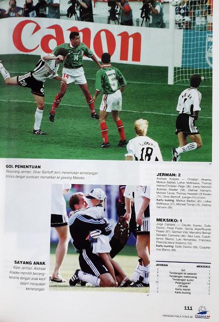 PIALA DUNIA 1998: STATISTIK PERTANDINGAN JERMAN VS MEKSIKO (2-1)