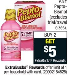 cvs couponers Pepto Bismol cvs deal