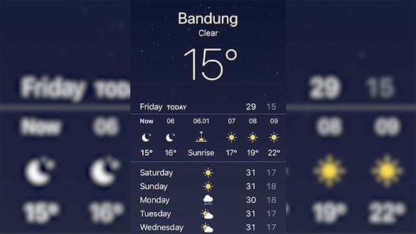 Bandung Mencapai 15 Derajat Celcius, Ada Apa?