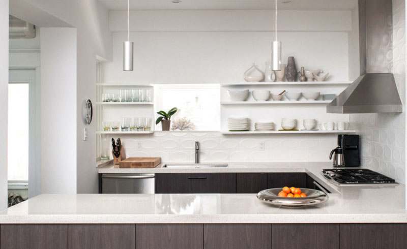 the case for open shelving,cleaning,dust,kitchen design,