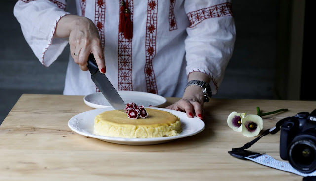 Tarta crema de orujo