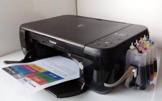 Cara mengisi tinta printer Canon