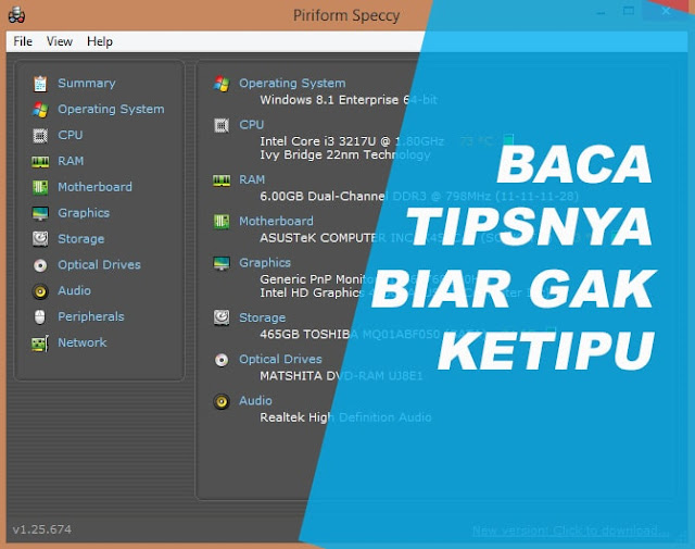Cara Melihat Spesifikasi Laptop & Tips Beli Laptop Second